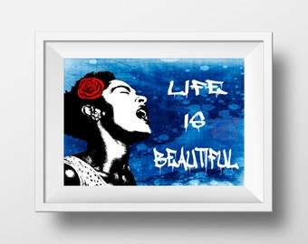 Banksy Life is beautiful poster print