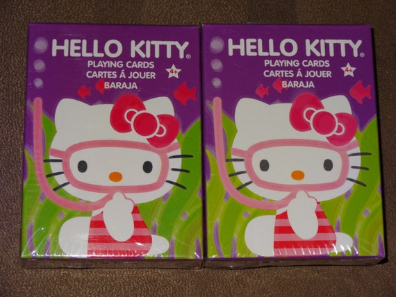 hello kitty playing cards perfect for party by. Black Bedroom Furniture Sets. Home Design Ideas