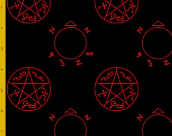 Angel trap and devil snare symbol fabric (pre-order listing)
