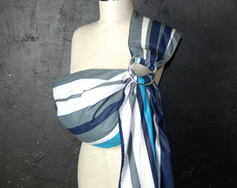 Baby Sling Ring/Baby Carrier/ Baby ring Sling/Baby Wrap/White,Gray/Gift,Navy Blue