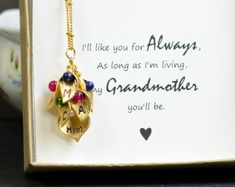 Mothers jewelry gifts,Grandmother Grandma necklace, 2 3 4 birthstones necklace,grandma,mom,sisters,family birthstone necklace ,personalized