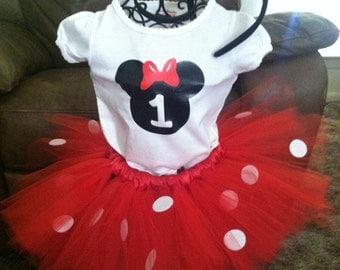 Minnie Mouse Bday Tutu Set