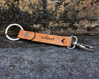 Leather Key Ring with Clip