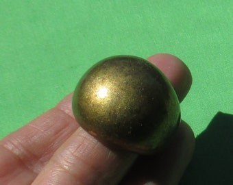 Retro Dome Shaped Gold Colored Metal Ring