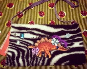 SALE!!! Dinosaure zebra bag