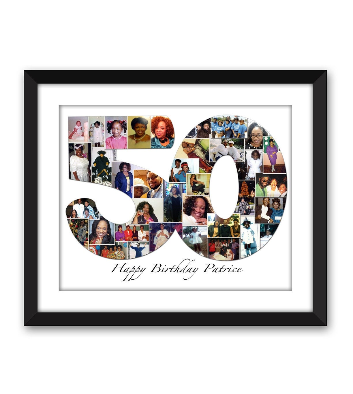Fifty 50 fiftieth 50th fifties 40 forty thirty 30 twenty one - Collage ideen ...
