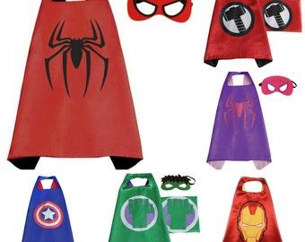 Superhero Cape Ready2ship - Superhero Party- Captain America - Hulk - Thor - IronMan- Avenger Cape-Birthday Cape-SuperHero Halloween Outfit