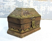 Wood Chest Small Jewelry Box Made In India Treasure Chest Rings Trinket Box Mans Jewelry Box Catch All Box Vintage Watch Box