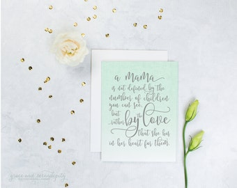 Miscarriage card, angel baby card, baby loss card, encouragement card for moms