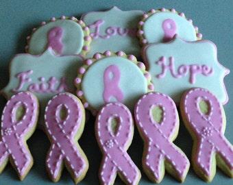 Breast Cancer Awareness Sugar Cookies