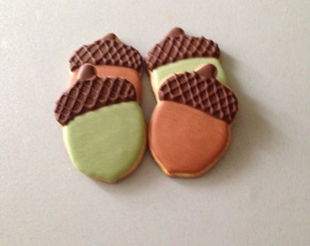 Fall Acorn Sugar Cookies