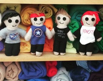 5 Seconds of Summer doll, 5SOS, Calum Hood, Michael Clifford, Luke Hemmings, Ashton Irwin (Price for ONE DOLL)