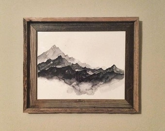 Mountains | Abstract | Watercolor | Original | Handpainted