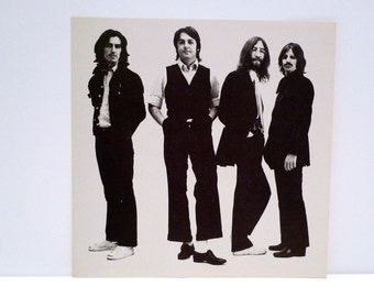 The Beatles Poster 1994 Vintage BandGroup Photo 2 Sided Record Store Display You Say You Want A Revolution Cardboard Flat 1990s John Lennon