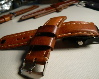 Apple Leather Watch Band, 24 mm Watch band, watch strap, leather watchstrap, handmade Goriani strap