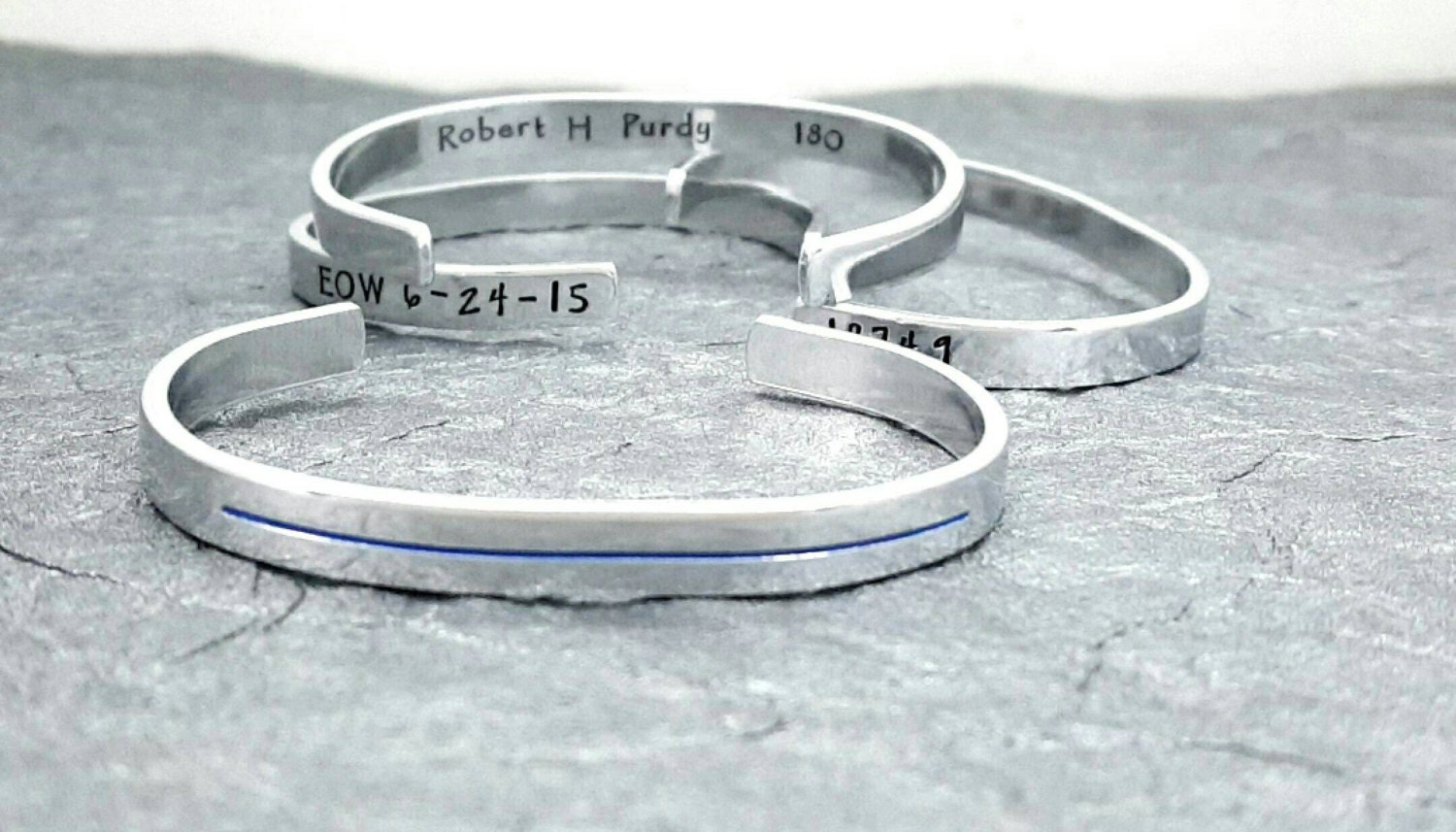 Thin Blue Line Bracelet Cuff Police Wife Police Officer