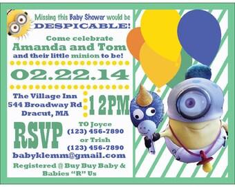 Minion Baby Shower Invitation