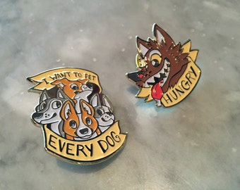 2 Pack - Dog Themed Soft Enamel Pins