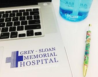 Grey Sloan Memorial Hospital Greys Anatomy Decal Laptop Decal iPad Decal