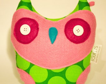 SQUEETS Craft 'Owley' soft handmade plush Owl