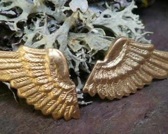 Raw Brass Stamping Tiny Wings Two Sets