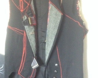 Funky vest made from vintage tuxedo tails