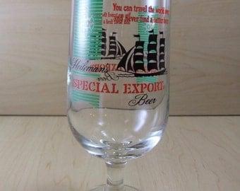 Heileman's Special Export stemmed beer glass goblet