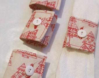 Set of four napkin rings