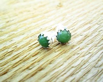 Jade stud/post earrings