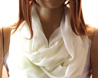 Ivory infinity scarves shawl - Ivory scarf - spring scarf - spring shawl -  - scarves - shawl - Scarves - Scarf - infinity scarves - wedding