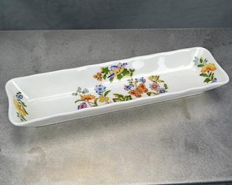 Aynsley Cottage Garden Rectangular Dish - Fine English Bone China
