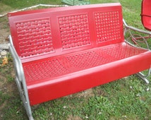 Vintage Metal Porch Glider Great Item