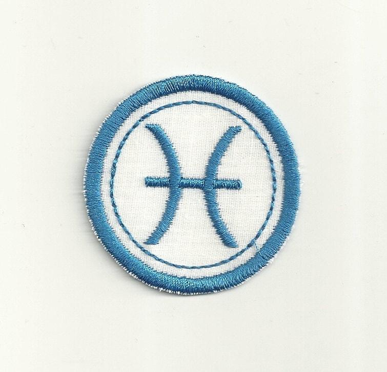 Zodiac pisces merit badge patch any color combo custom for Fishing merit badge