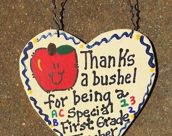 Teacher Gift Thanks a Bushel 6002 First Grade Teacher