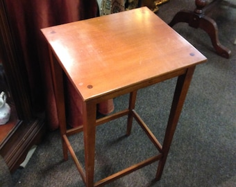 Heirloom Table Small Modern Reproduction Mission Maple Side Table Plant  Stand Accent Piece