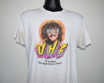 1989 UHF Rare Vintage 80's Cult Classic Weird Al Yankovic Funny Movie T-Shirt