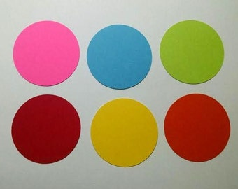 30 cardstock circles 3 inches - choice of color
