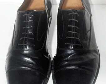 SALVATORE FERRAGAMO Black Leather Oxford Dress Shoes Men's Size 13