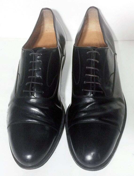 salvatore ferragamo black leather oxford dress shoes s