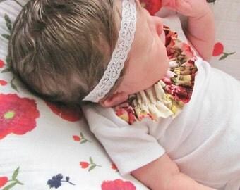 Baby onesie / ruffled onesie / girl onesie