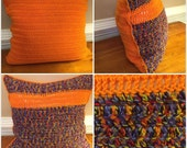 Orange Color Block Pillow