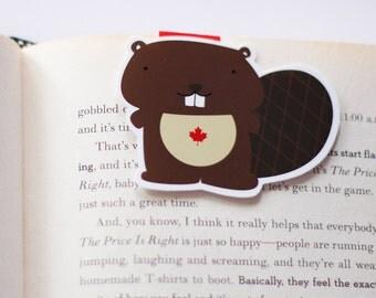 Beaver Magnetic Bookmark (Jumbo)