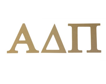 alpha delta pi 75 unfinished wood letter set