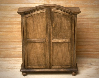 Miniature Wardrobe for Your Dollhouse