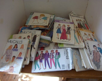 Lot of 46 Vintage Sewing Patterns Used From 1967 to 1985 Sizes 10 to 18