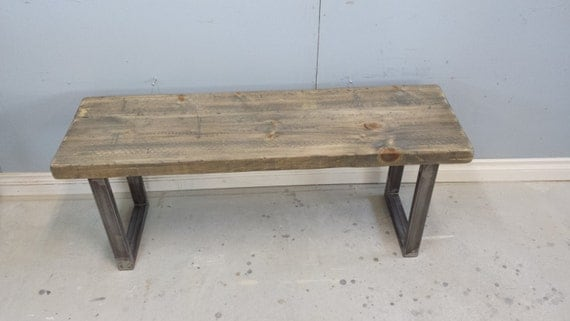 New Wood and Metal Entry Bench
