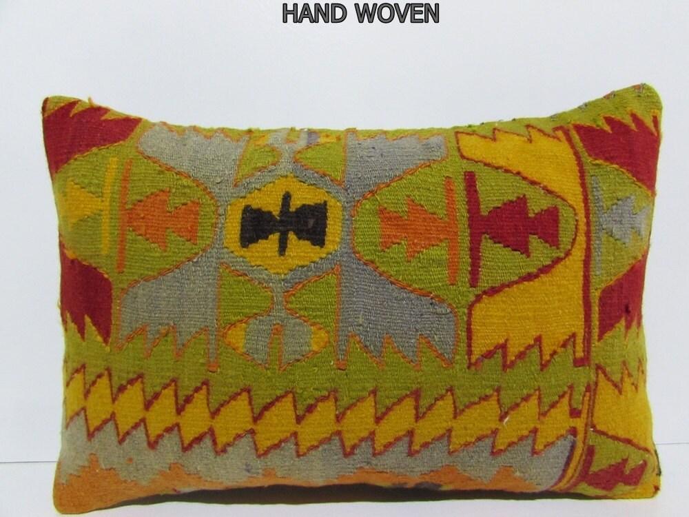 16x24 kilim pillow big throw pillow long decorative pillow