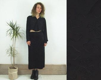 90's vintage women's black shirt top