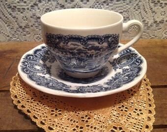 Old English Staffordshire Ware Cup and Saucer Set JonRoth England