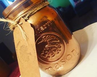 Homemade Mason Jar Candles.